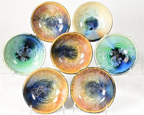 Bill Campbell Stoneware Chrystalline Bowls