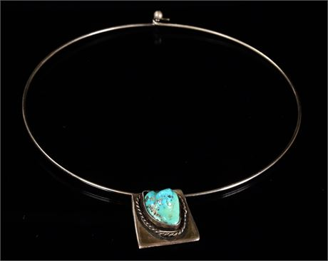 Turquoise and Sterling Choker