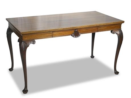 Antique Walnut Queen Anne Writing Desk