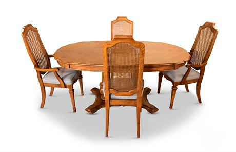 AS IS Double Pedestal Dining Set