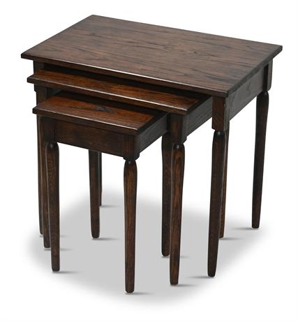 Set of (3) Oak Nesting Tables