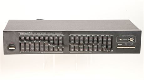 Vintage 10 Band Realistic Stereo Frequency Equalizer