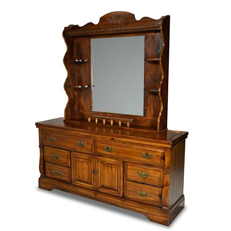 Classic Pine Dresser with Mirror