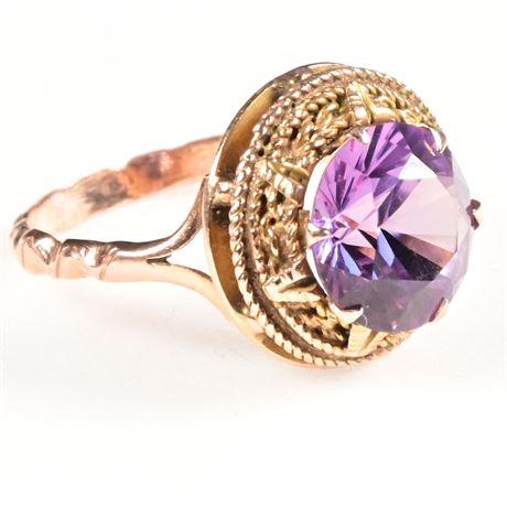 Vintage 10K Alexandrite Ring