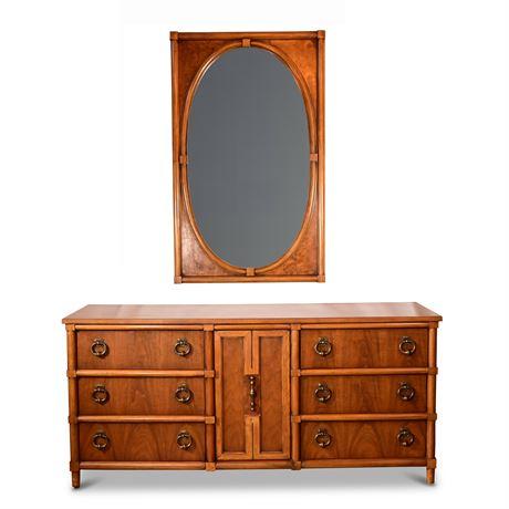 Mid-Century Thomasville Stroupe Dresser and Mirror