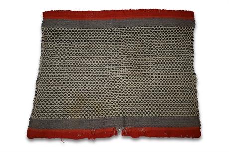 Rare Tweed Navajo Saddle Blanket