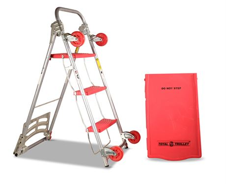 "Total Trolley 42"" Collapsible Hand Cart 4 in 1 Step Ladder"
