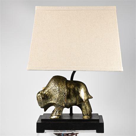 Ayani Gold Tone Buffalo Table Lamp