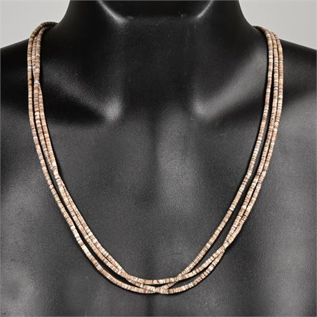 Three Stand Heishi Necklace