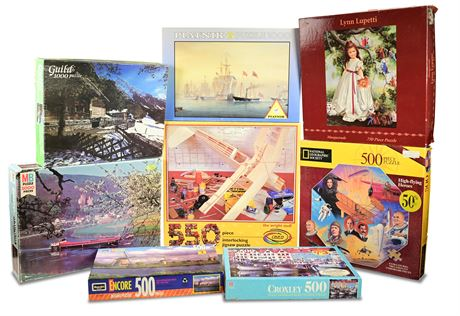 Milton Bradley and More Jigsaw Puzzles