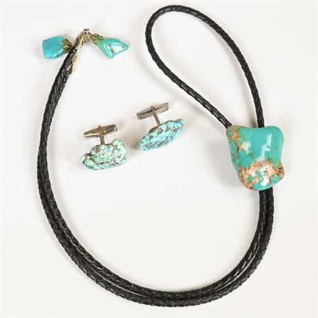 Gents Bolo and Cufflink Set