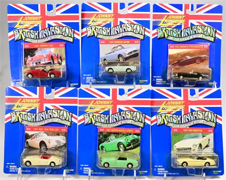 (6) Johnny Lightning British Invasion Collectible Cars