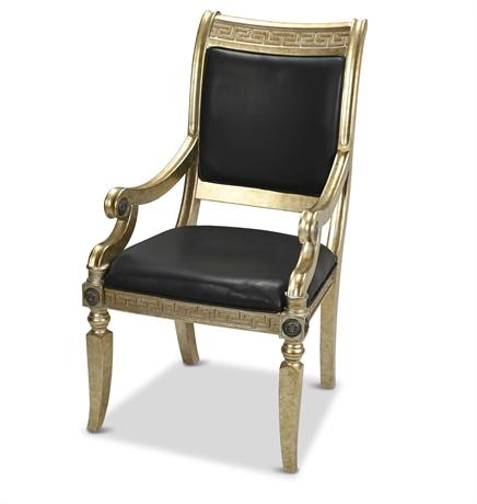 Neoclassical Revival Parcel Gilt Armchair