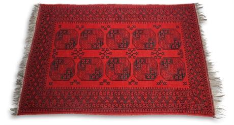 5' x 8' Ersari Rug, Semi Antique