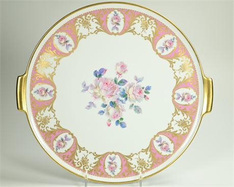 Vintage Alboth Kaiser Hand Painted Cake Plate