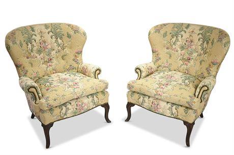 Louis XVI Style Wingback Bergère Chair