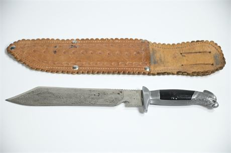 1950's Mexican Bowie Knife by Cervantes of Oaxaca with Eagle Head Handle