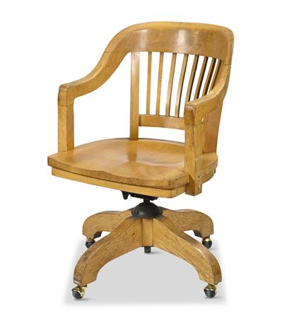 Antique Federal Government Oak Office Chair