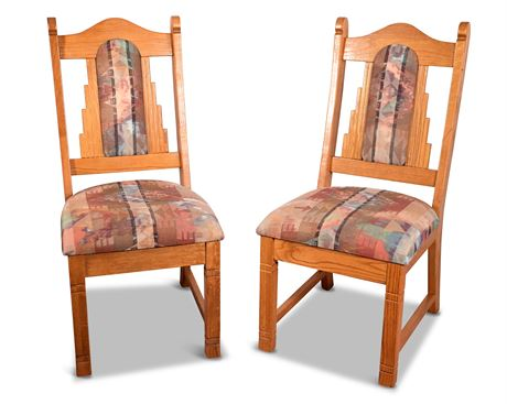 Carved Oak Side Chairs