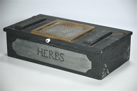 "Wood ""Herbs"" Box"