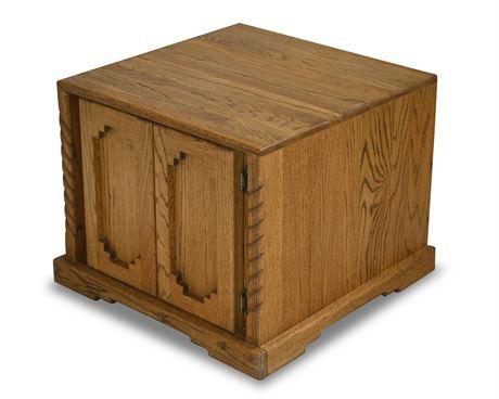Custom Solid Oak Side Table