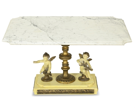 Neoclassical Marble Cocktail Table