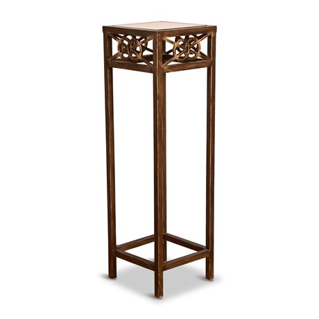 Iron and Glass Bronzed Side Table