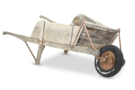 Primitive Antique Wheelbarrow