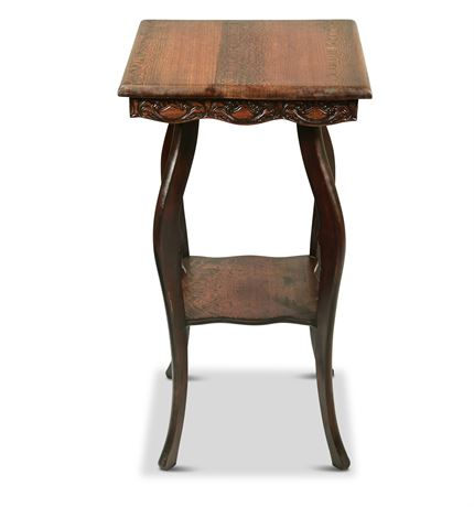 Antique Mahogany Tiered Table