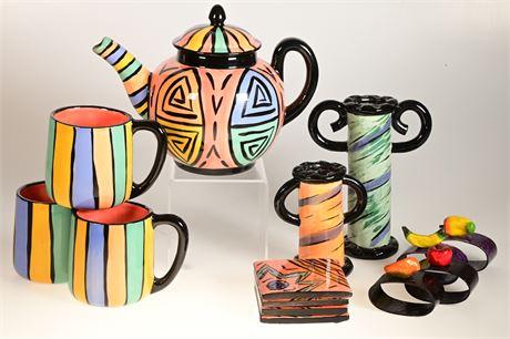 Linda Gossett Ceramic Set