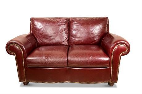 Wellington Genuine Leather Loveseat