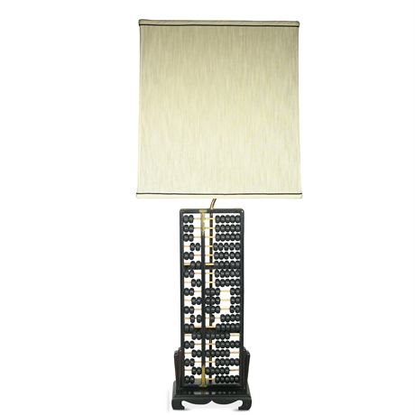 Chinese Huanghuali: Abacus Lamp