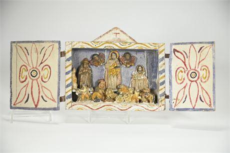 Vintage Mexican Folk Art Nacimiento (Nativity)