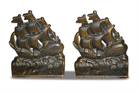 Verona Bronze Ship Bookends