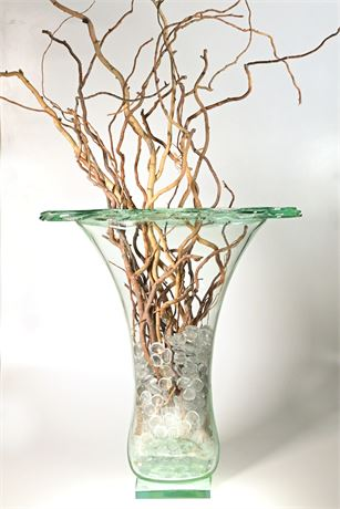 Large Blown Glass Vase