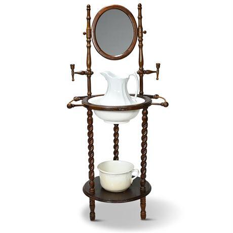 Victorian Style Barley Twist Washstand