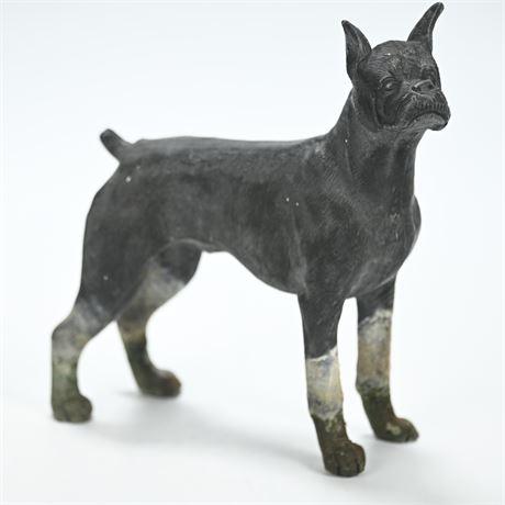 Detailed Bronze Boxer Figure