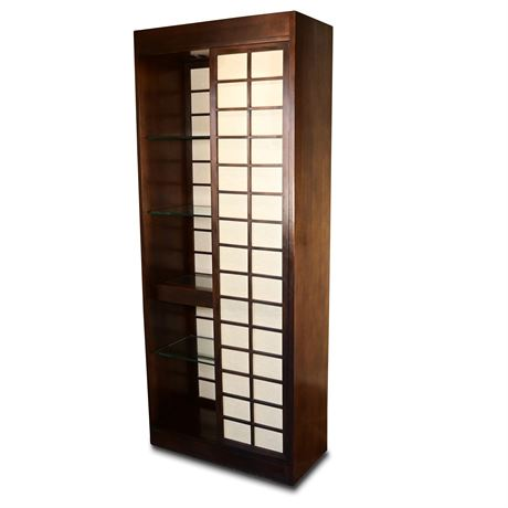 Asian Themed Lighted Etagere