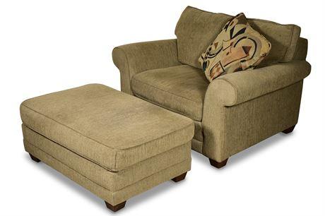 Bauhaus Oversize Chair and Ottoman