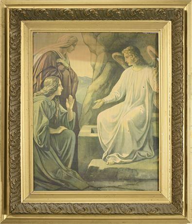 Antique Religious Lithograph