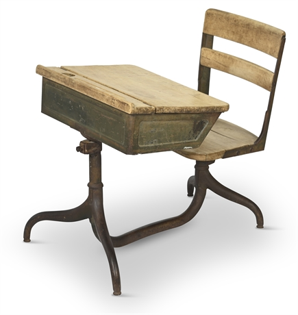 Heywood-Wakefield 1950's Industrial Child's School Desk