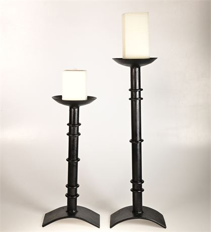 Pair of Iron Candle Holders