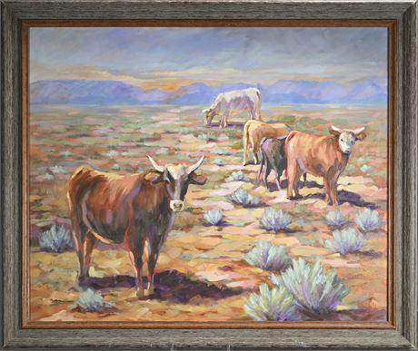 Original Linda Miller Desert Landscape