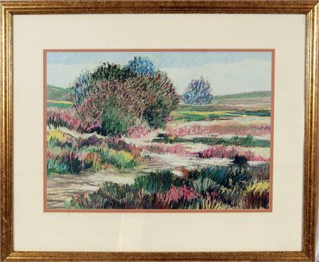 Framed Pastel Watercolor Print