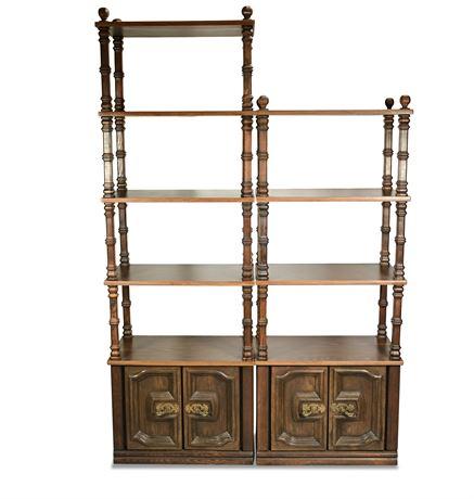 Vintage Tower Shelves