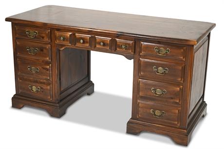 Link Taylor Settlers Pine Double Pedestal Desk
