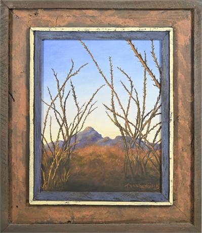 T. VanSchoiack (Thelma VanSchoiack) Original Desert Landscape