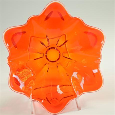 Vintage Viking Glass 6 Petal Bowl