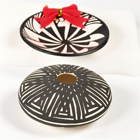 2 Pieces Acoma Pottery by Antonio