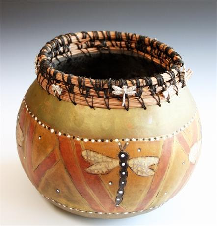 Kathy Baker Embellished Gourd
